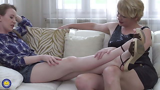 Mom and daughter having taboo sex