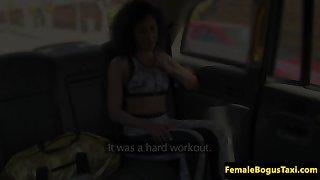 UK cabbie lezbo gets undies put in vag