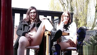 Girls Get Caught Public Playing Outside
