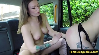 tattoo cabbie honey smacking lez before oral