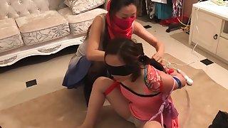 Asian scarf bondage 5