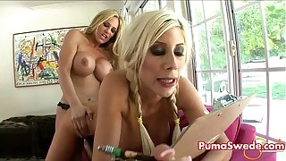 Puma Swede in Girl on Girl Strapon Fun With Busty Tyler Faith