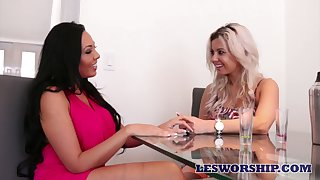 Fabulous anticipating well-endowed lesbo Rio Lee loves eating and masturbating muddied pussy