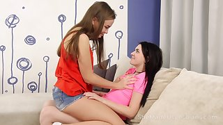 Dirty-minded bitch Terry Ellie feels great about some horny fingering