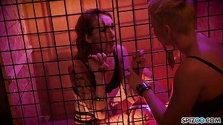 Sensual and outcast lesbian strapon sex games with naughty Ryan Keely