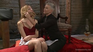 Bondage and torture is a new experience for lesbian Emma Haize