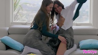 Shyla Jennings and Samantha Hayes having some fun after a long time home alone
