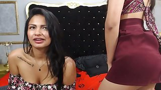 Two Latina Lesbians Skunk To Orgasm