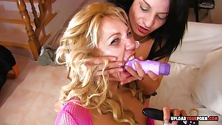 Breathtaking Babes Get Drilled By His Rag - lesbian sex, toys, troika and cumshot