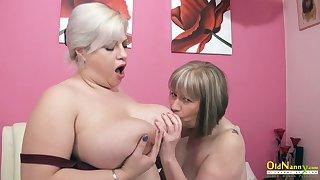 OldNannY BUsty British Mature Lesbians Toying