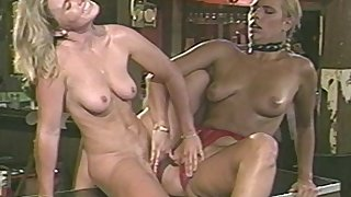 Lesbian lovemaking on the pool table with unpractised soul Anika La Rue