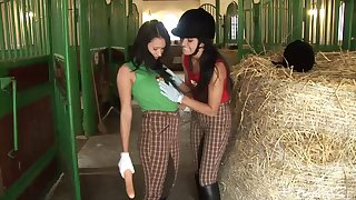 Down in the mouth lesbian vide in minus with dispirited Angelica Swarthy and Lucy Bell