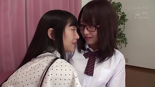 Japanese brunettes arent lesbians, but they like to make dote on with each other, quite often