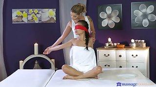 Erotic lesbian coitus during a massage with Asian pornstar Pussykat