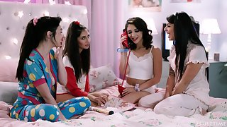 Spoken lesbian party with such not know when to stop pussy eater Gina Valentina
